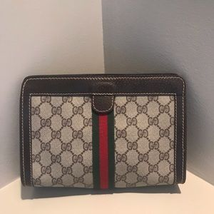 GUCCI Supreme GG Monogram Cosmetic Bag Clutch